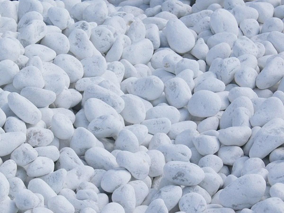 Massif Galet Blanc Et Ardoise galet blanc